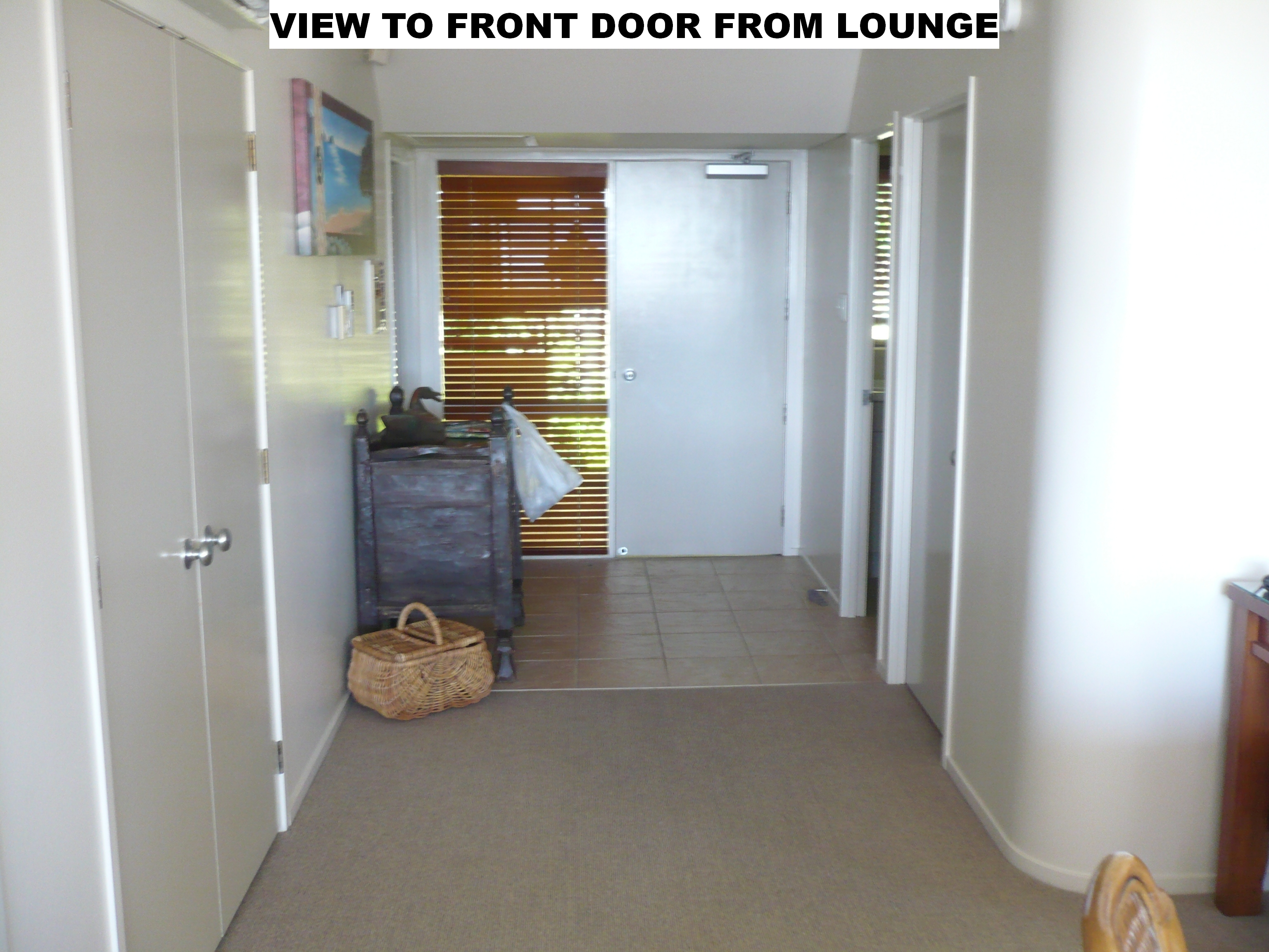 look to door from lounge